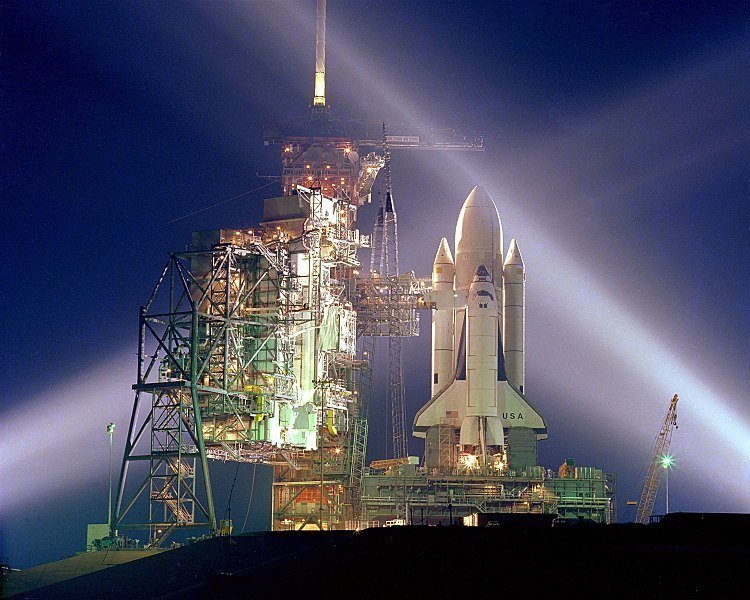 Space Shuttle equipaggio con John Young