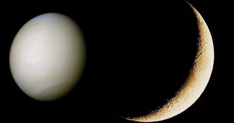 La Luna e Venere