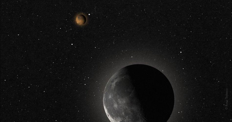 Luna, Marte