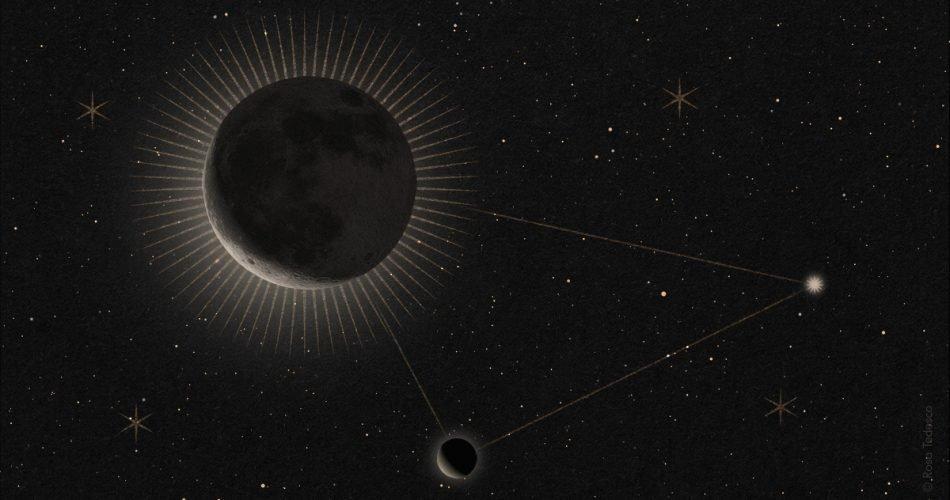Luna, Venere ed Aldebaran