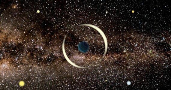 Rappresentazione artistica di un pianeta solitario