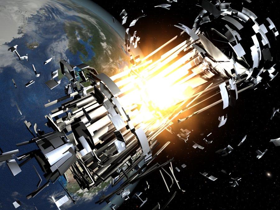 Illustrazione collisione spaziale