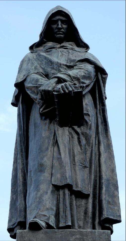 Giordano Bruno statua in bronzo