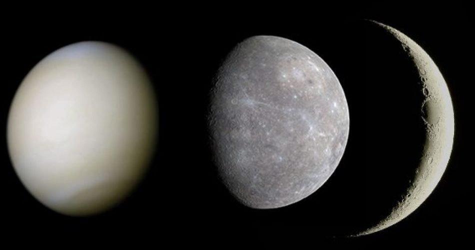 Luna, Venere e Mercurio