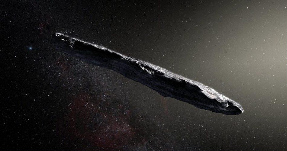 Rappresentazione artistica di Oumuamua