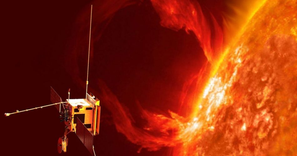 La rappresentazione di un'eruzione solare
