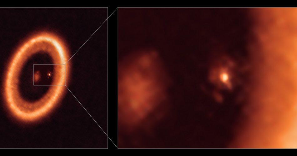 L'osservazione del disco dell'esopianeta ripreso da ALMA. Credit: ALMA (ESO / NAOJ / NRAO) / Benisty et al.