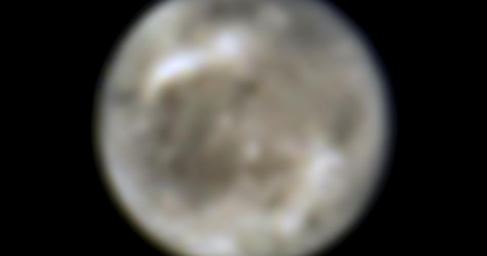Questa immagine presenta la luna di Giove Ganimede vista dal telescopio spaziale Hubble della NASA nel 1996