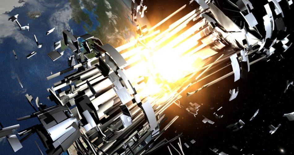 Illustrazione di un incidente di un satellite