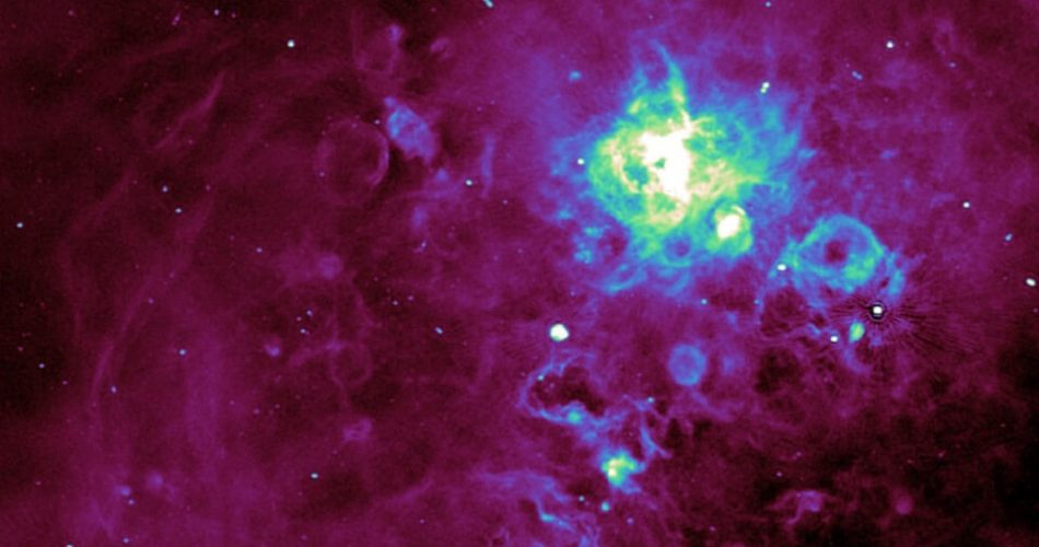 Una vista dall'alto di ASKAP della Nebulosa Tarantola
