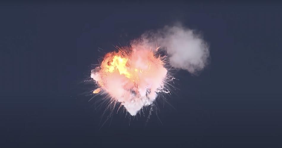 Esplosione razzo