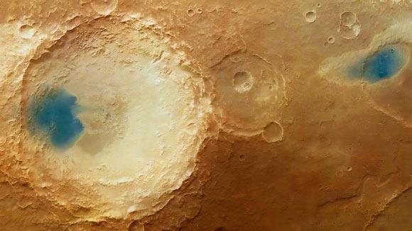 Parte della regione denominata 'Arabia Terra' sul Pianeta Rosso