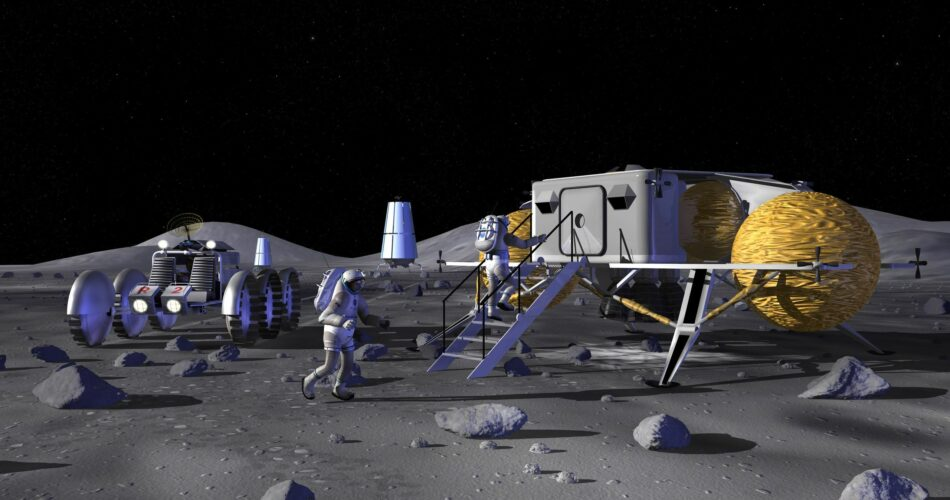 Base lunare, rappresentazione artistica
