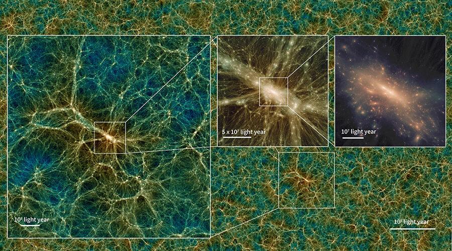 Ecco un frame della simulazione dell'Universo